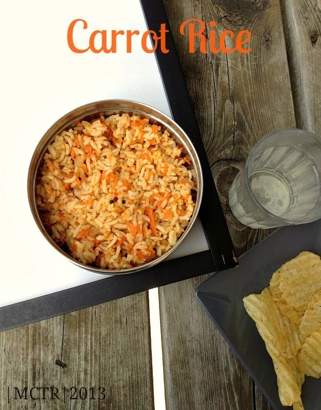 Carrot Rice | Easy Lunch Box Recipes