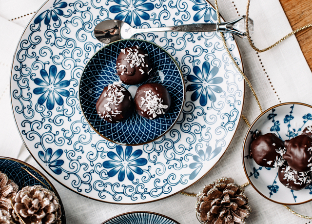 Chocolate Truffles With Rose & Chai Spices