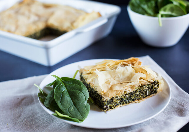 Spinach and Cheese Pie inspired by Ottolenghi