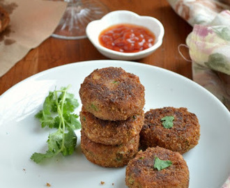 Macaroni and Vegetable Cutlet