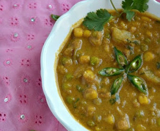 Corn and green Peas Kurma
