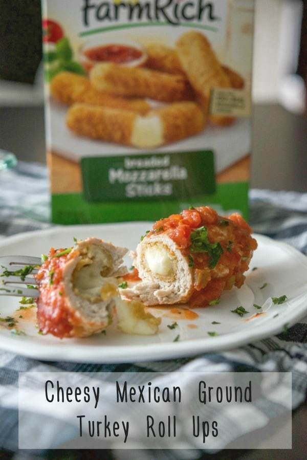 Cheesy Mexican Ground Turkey Roll Ups