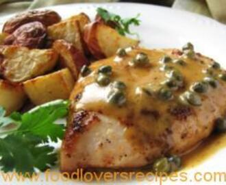 CHICKEN BREAST IN CAPER CREAM SAUCE