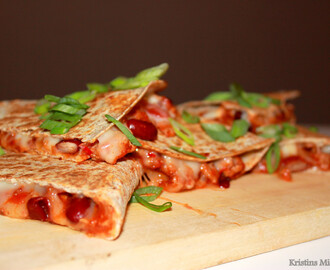 Quesadillas med chili con carne