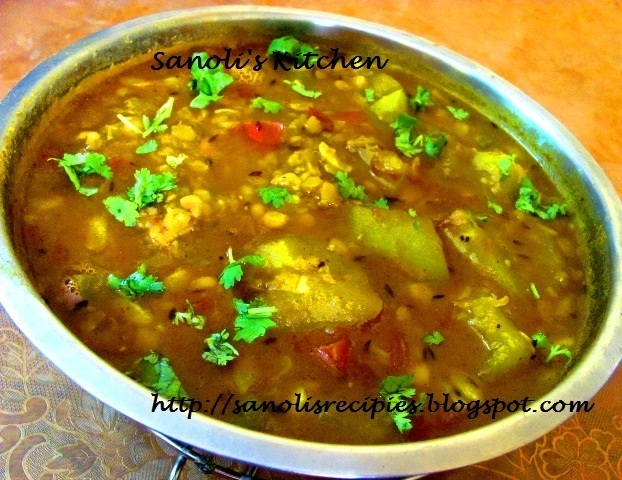DUDHI WITH CHANA DAL / SPLIT BENGAL GRAM WITH BOTTLE GOURD