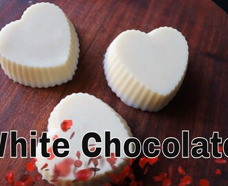 White Chocolate /Homemade White Chocolate recipe.