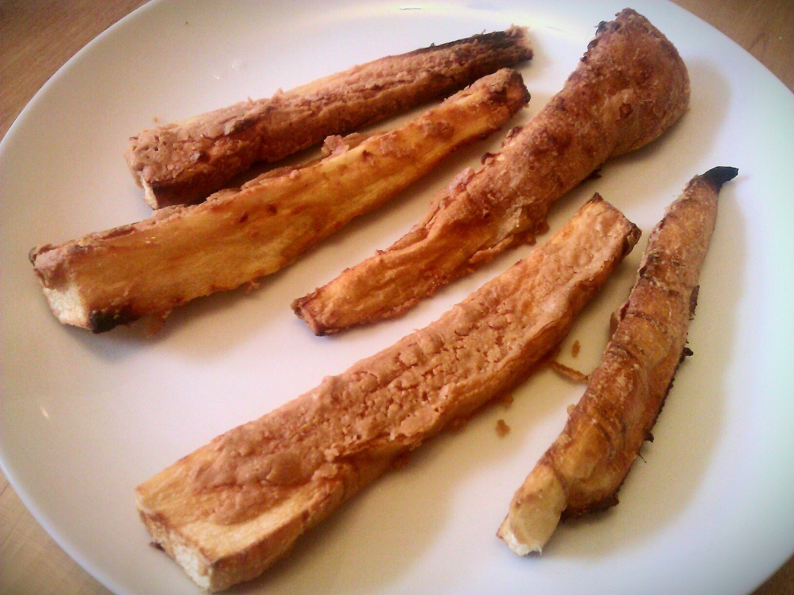 Peanut buttered parsnips