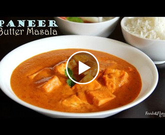 Paneer butter masala Recipe Video