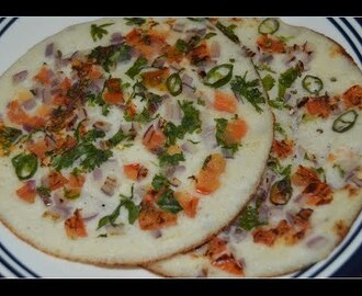 Onion Capsicum Uttapam Recipe Video