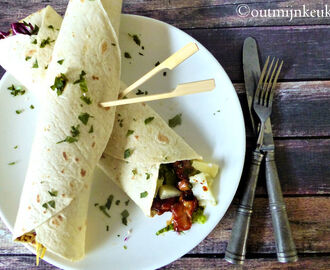Recept | Wraps met kip in barbecue saus
