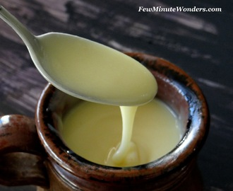 Home Made Condensed Milk In 5 Minutes