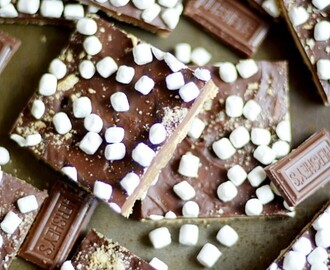 "S'mores ""Crack"" Graham Cracker Toffee"