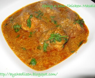 Spicy n Sour Chicken Masala