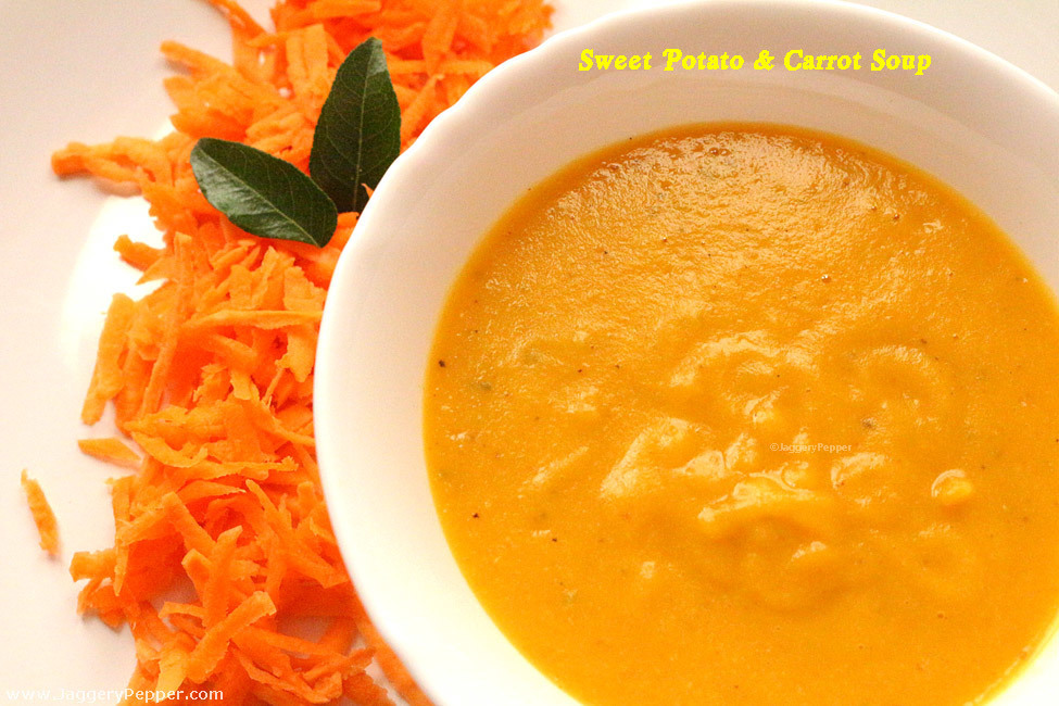Sweet Potato and Carrot Soup for Babies