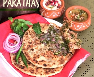 Onion and Mint Parathas