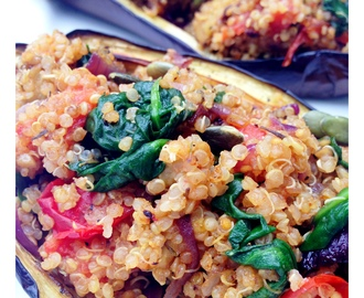 Quinoa Stuffed Aubergine					