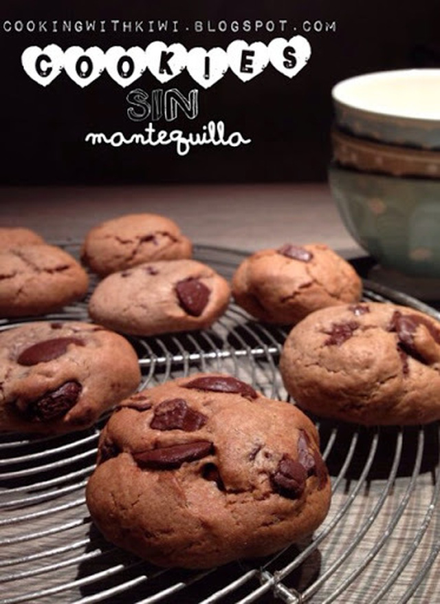 COOKIES DE CHOCOLATE SIN MANTEQUILLA