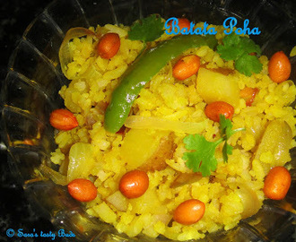 Batata poha / Rice flakes with potato