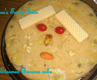 Steamed  Eggless Banana cake