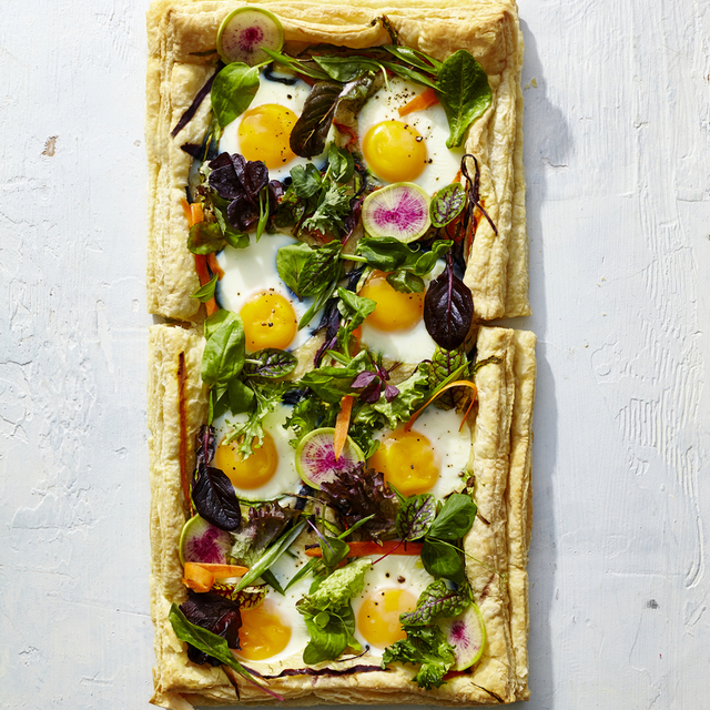 Eggs in a Garden Breakfast Tart