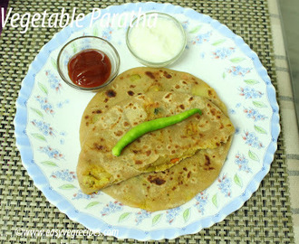 Vegetable Paratha Recipe -- How to make Vegetable Paratha