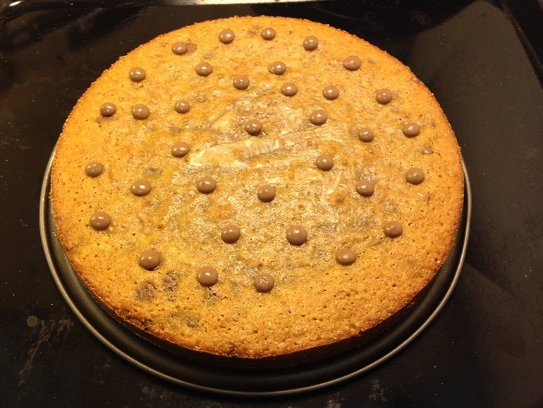 Chocolate chip cookie kladdkaka