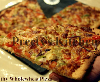 Healthy Wholewheat Pizza Recipe