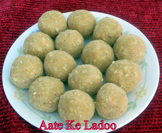 Aate ke Ladoo(whole wheat Flour Ladoo)