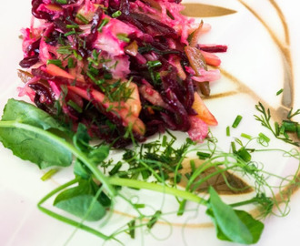 Beetroot and Sauerkraut Salad