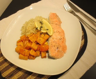Salmon with quinoa & butternut squash