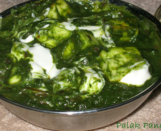 Palak Paneer/Spinach and Cottage Cheese Gravy
