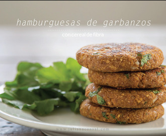 Hamburguesas de garbanzos.