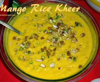 Mango Rice Kheer / Mango Rice Pudding