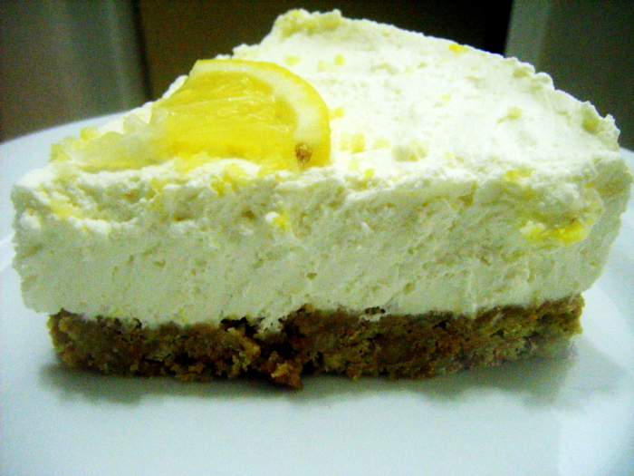 Cheap and Cheerful Lemon Cheesecake