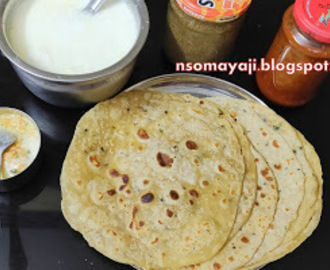 Soft -Spicy and Yummy Potato Chapatis