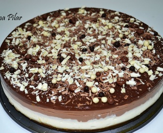 Tarta a los Tres Chocolates (Thermomix)