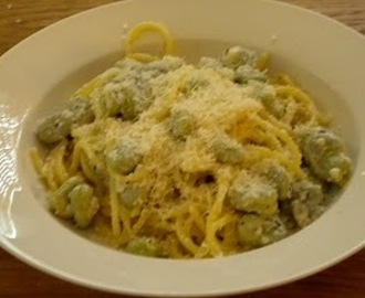 Recipe corner - Linguine with broad beans, peas and goats' cheese