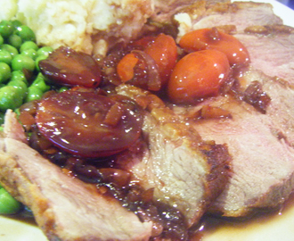 Seared Duck Breast with Redcurrant, Red Wine, Cherry Tomato and Balsamic