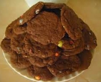 Chocolate Smartie Cookies Volcano
