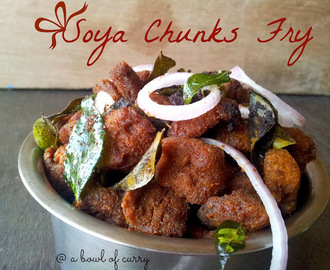 Spicy Soya Chunks Fry - Meal Maker Fry