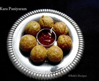 Oats Kara Paniyaram | Oat spicy balls | Healthy snack recipe