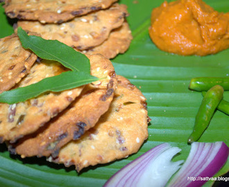 Spicy onion crackers - Baked & Low calorie snack