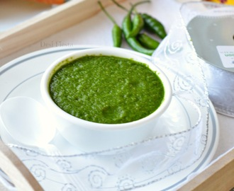 Sandwich Chutney / Green chutney with Cucumber  | Green Chutney