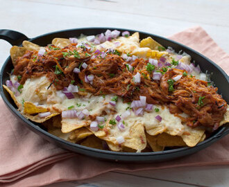 Recept: Nacho's met pulled chicken en kaas