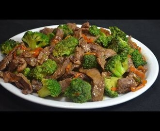 Carne con Brocoli. Rica comida China