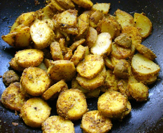 Kadali recipes mytaste kancha kadali besarabhaja raw bananna sukhi bhaji with mustard paste thecheapjerseys Image collections