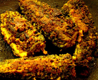 Stuffed kalara bhaja with Mustard paste (stuffed karela)