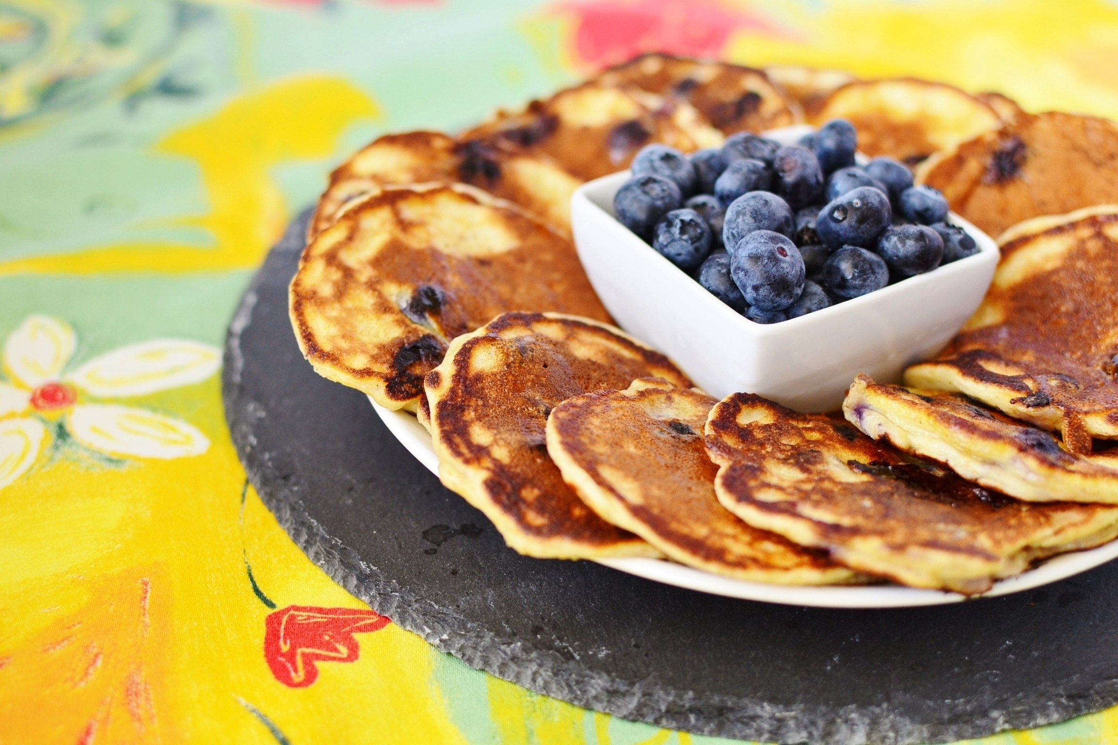 Blueberry Pancakes with Quark and Wheatgerm