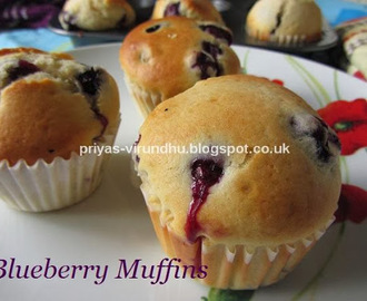 Blueberry Muffins [No Butter]
