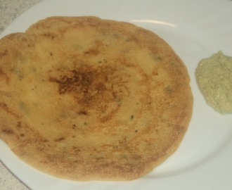 Dosa/cheela with left over idli batter